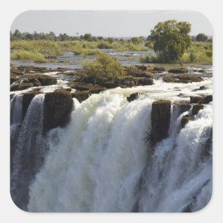 Cataratas Vitória, rio de Zambesi, Zâmbia. 2 Adesivo Quadrado