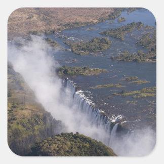 Cataratas Vitória, rio de Zambesi, Zâmbia - Adesivo Quadrado