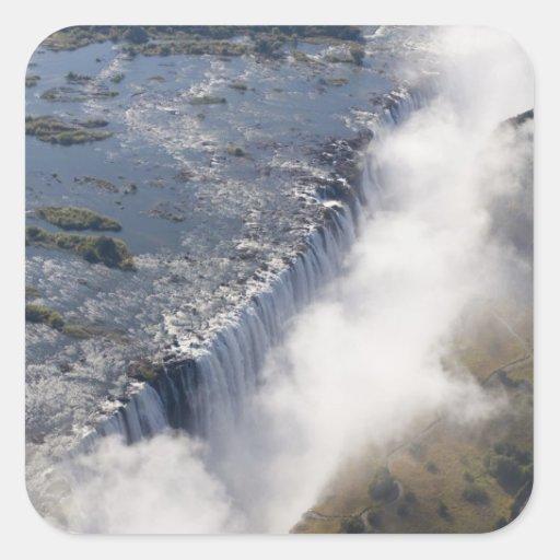Cataratas Vitória, rio de Zambesi, Zâmbia - Adesivo Em Forma Quadrada