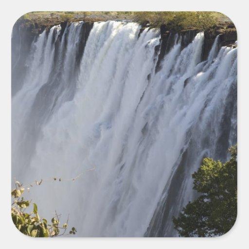 Cataratas Vitória, rio de Zambesi, Zâmbia Adesivo Quadrado