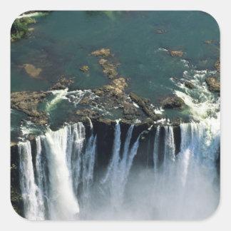 Cataratas Vitória, Zâmbia à beira de Zimbabwe. Adesivo Quadrado