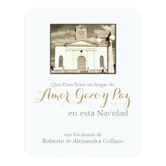 Catedral católica espanhola, Natal de Puerto Rico Convite 10.79 X 13.97cm