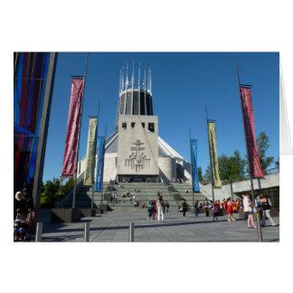 Catedral católica - Liverpool Cartão Comemorativo
