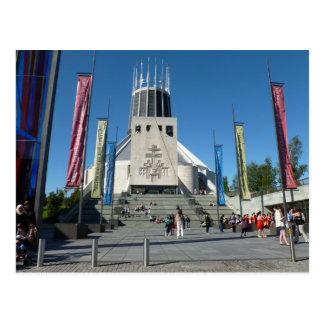 Catedral católica - Liverpool Cartões Postais
