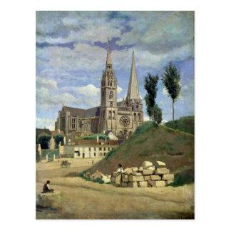 Catedral de Chartres, 1830 Cartão Postal