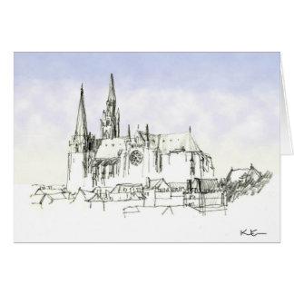Catedral de Chartres Cartão