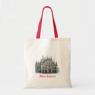 Catedral de Milão que tira a sacola branca Sacola Tote Budget