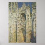 Catedral de Rouen na luz solar completa Posteres