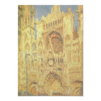 Catedral de Rouen, por do sol por Claude Monet Convite Personalizados