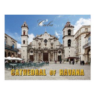Catedral do século XVIII de Havana, Havana, Cuba Cartão Postal