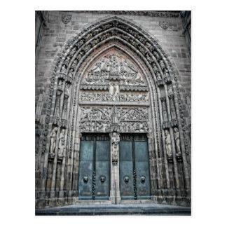 Catedral do St. Lorenz - cartão de Nuremberg,