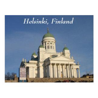Catedral evangélica finlandesa do Lutheran Cartão Postal