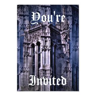 Catedral gótico da fantasia convite 12.7 x 17.78cm