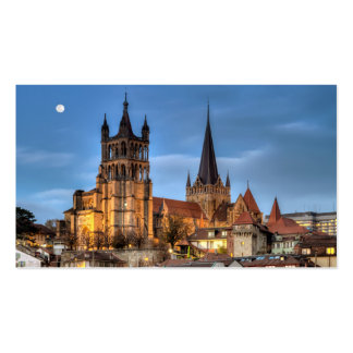 Catedral Notre Dame de Lausana, suiça, HDR Cartão De Visita