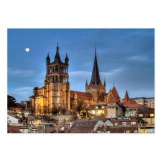 Catedral Notre Dame de Lausana, suiça, HDR Cartão De Visita Grande