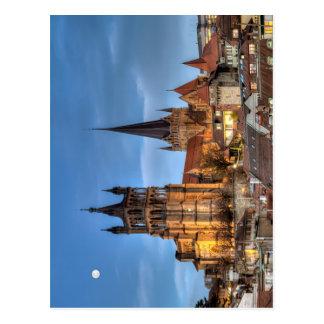 Catedral Notre Dame de Lausana, suiça, HDR Cartão Postal