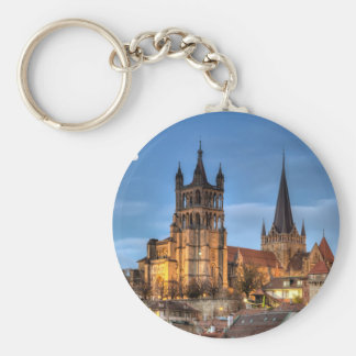 Catedral Notre Dame de Lausana, suiça, HDR Chaveiro
