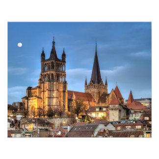 Catedral Notre Dame de Lausana, suiça, HDR Flyer 11.43 X 14.22cm