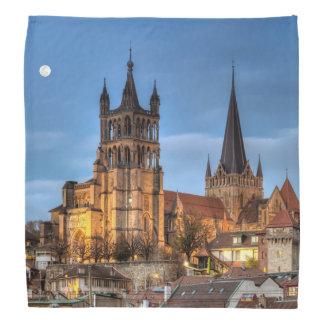 Catedral Notre Dame de Lausana, suiça, HDR Pano Para Cabeça