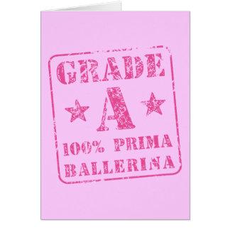 Categoria cor-de-rosa uma bailarina de Prima Cartão Comemorativo