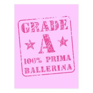 Categoria cor-de-rosa uma bailarina de Prima Cartão Postal