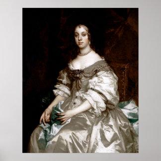 Catherine de Braganza pelo senhor Peter Lely Posteres