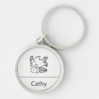 Cathy no chaveiro maia