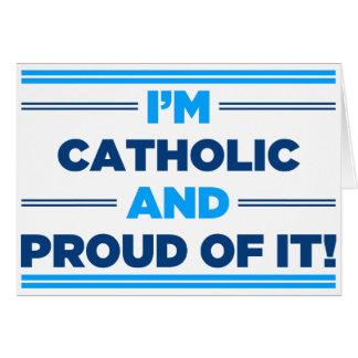Católico orgulhoso cartoes