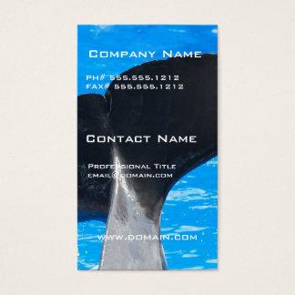 Cauda de cartões de visitas de uma baleia