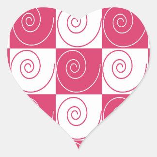 Caudas Mousey cor-de-rosa de Bubblegum Adesivo Coração