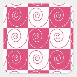 Caudas Mousey cor-de-rosa de Bubblegum Adesivo Quadrado