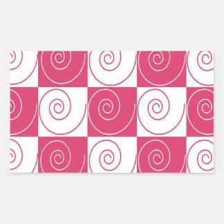 Caudas Mousey cor-de-rosa de Bubblegum Adesivo Retangular