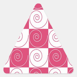 Caudas Mousey cor-de-rosa de Bubblegum Adesivo Triangular