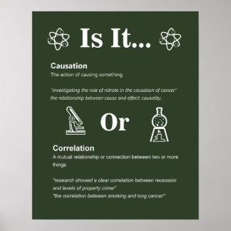 Causa ou correlação? Regras de classe da ciência Pôster