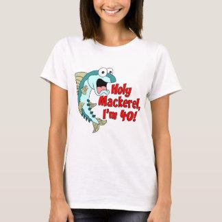Cavala santamente eu sou 40 camiseta