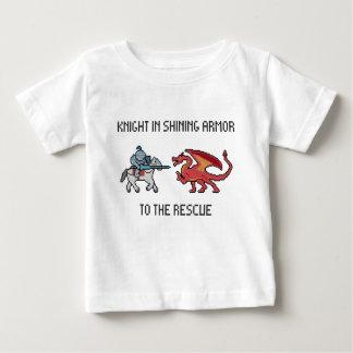 Cavaleiro ao t-shirt da criança do salvamento camiseta para bebê