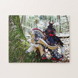 Cavaleiro blindado extravagante em Pegasus Quebra-cabeça