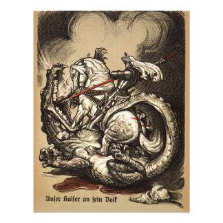 Cavaleiro contra o dragão panfleto personalizados