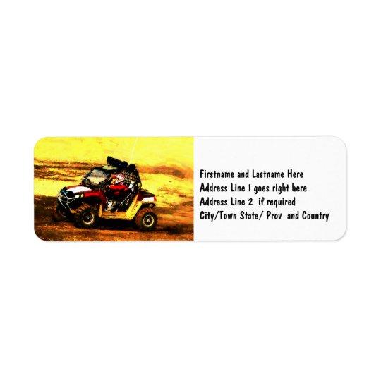 Cavaleiro de ATV - todo o Motorsports do extremo d Etiqueta Endereço De Retorno