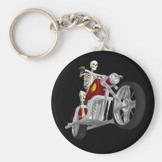 Cavaleiro de esqueleto do motociclista/bicicleta: chaveiro