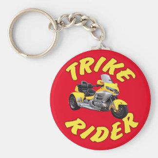 Cavaleiro de Trike no amarelo Chaveiro