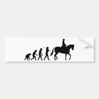 Cavaleiro do cavalo adesivo para carro
