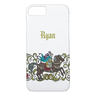 Cavaleiro do vintage personalizado capa iPhone 7