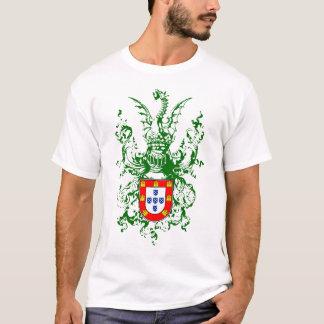 Cavaleiro, dragão e brasão portuguesa camiseta