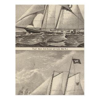 Cavaleiro e Whilldin dos barcos piloto POR EXEMPLO Cartão Postal