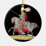 Cavaleiro em enfeites de natal da armadura
