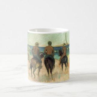 Cavaleiro na praia - Paul Gauguin Caneca