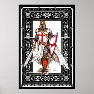 cavaleiro templar no poster da armadura