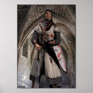 Cavaleiro Templar - o último suporte Impressão