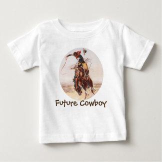"""Cavaleiro """"vaqueiro futuro """" do Bronc Camiseta Para Bebê"""